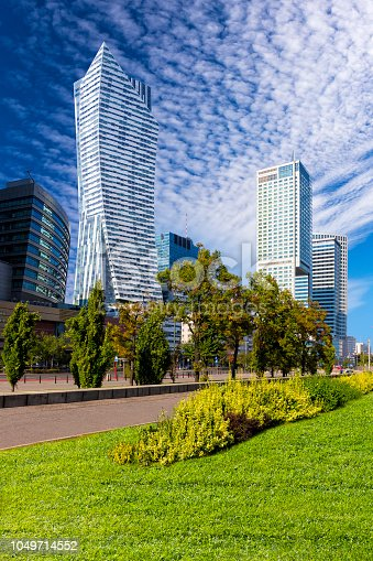 1157587322 istock photo Modern architecture in the center of Warsaw, Poland 1049714552