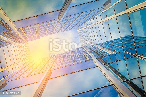 istock Modern architecture in the sun 1153553609