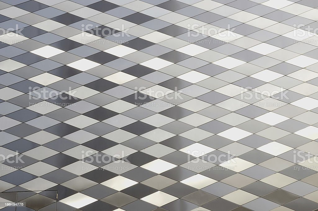 modern architecture metalic wall background royalty-free stock photo