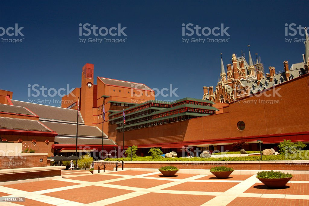 Modern architecture mixed with old architecture stock photo