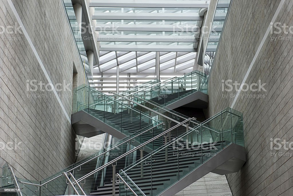 Modern architecture new staircases royalty-free stock photo