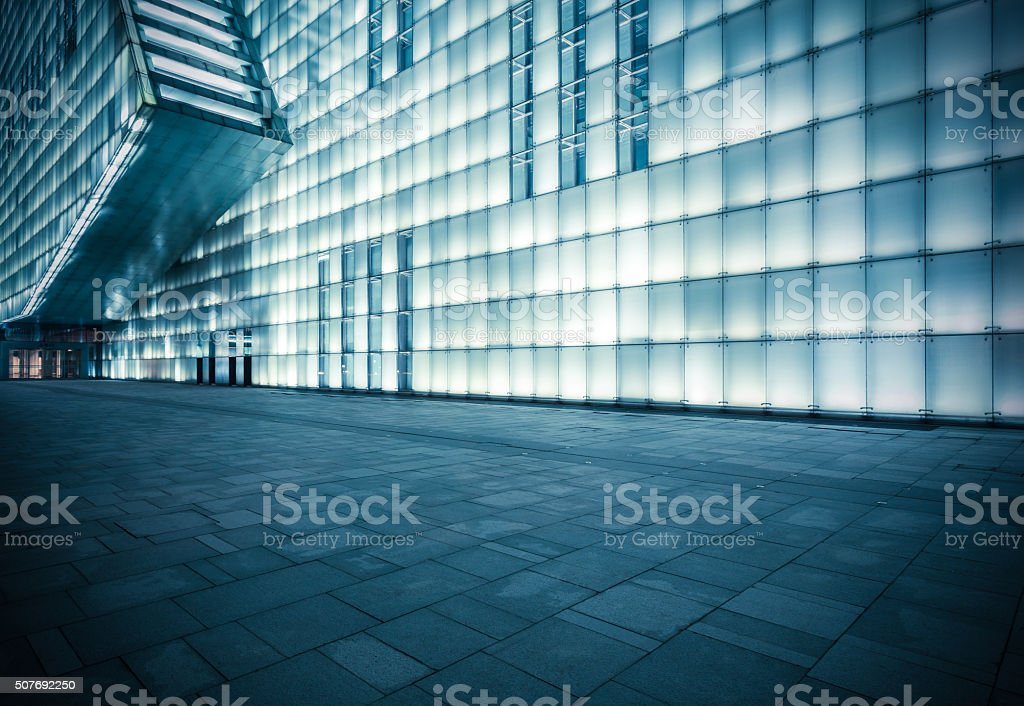 Moderne Architektur Nacht – Foto