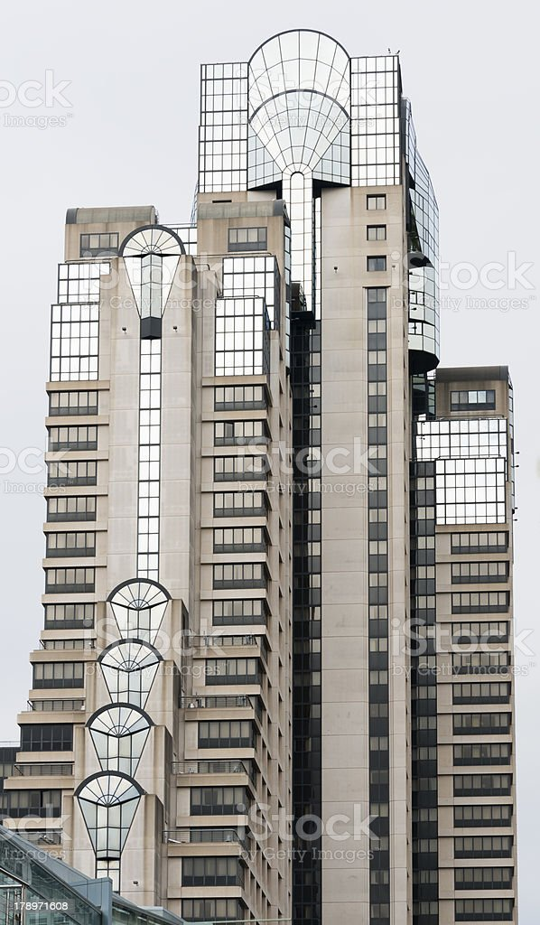 Modern architecture of a Hotel in SOMA District, San Francisco royalty-free stock photo