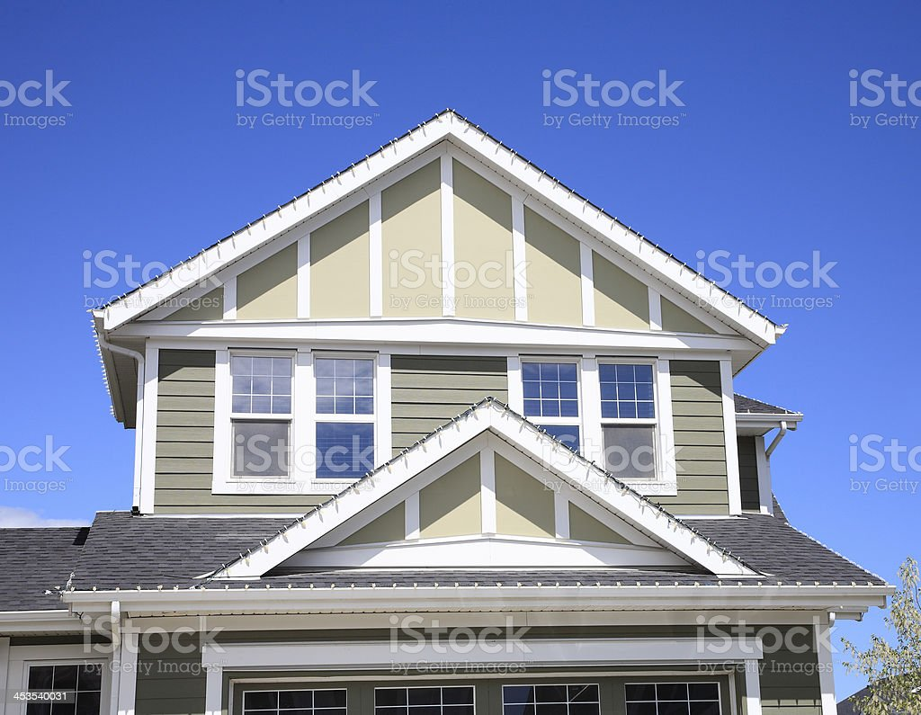 Modern Architecture Of A New Home stock photo