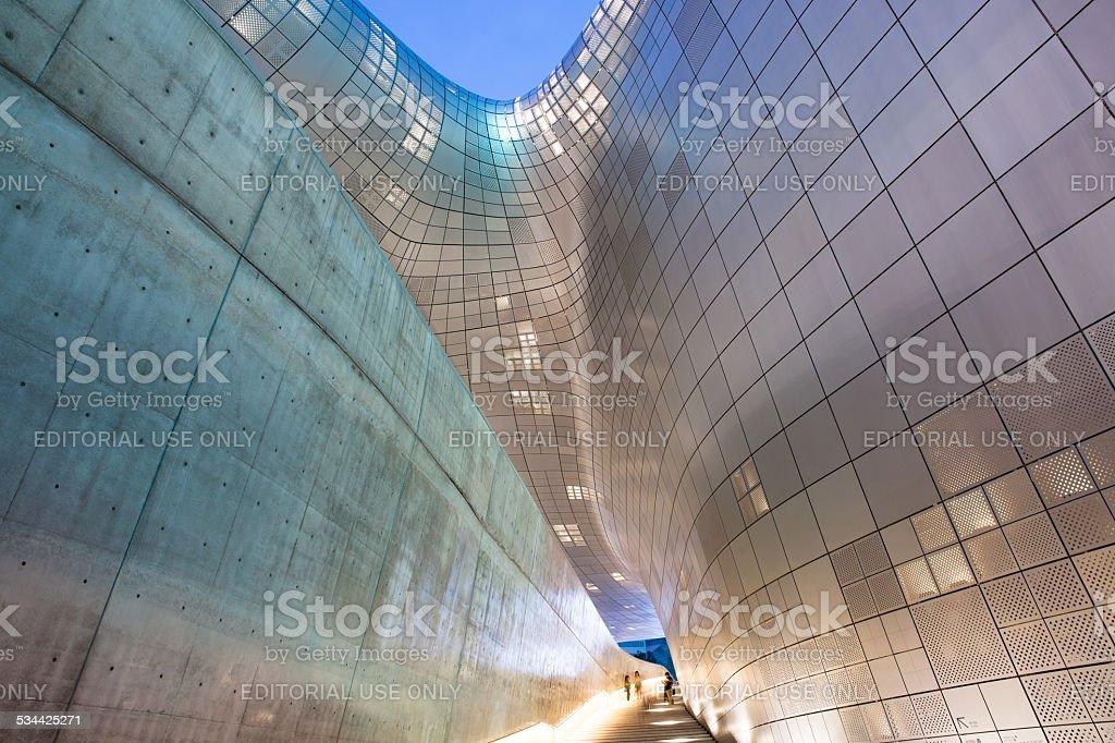 Modern architecture of Dongdaemun Plaza, Seoul stock photo