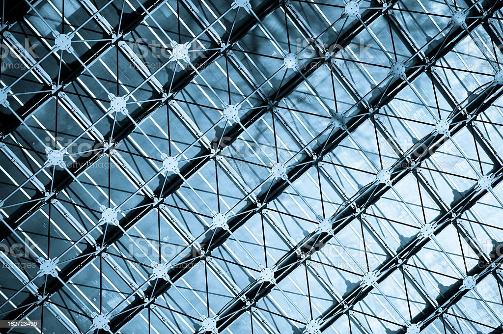 Modern architecture of glass and metal stock photo