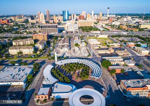 1082409706 istock photo Modern Architecture of Solar Panel Renewable Rooftop of Futuristic San Antonio Texas 1155929183