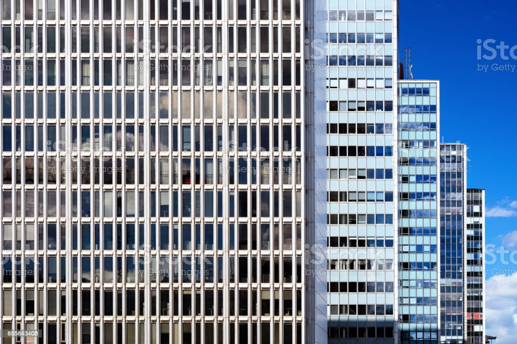 Modern arkitektur i Stockholm bildbanksfoto