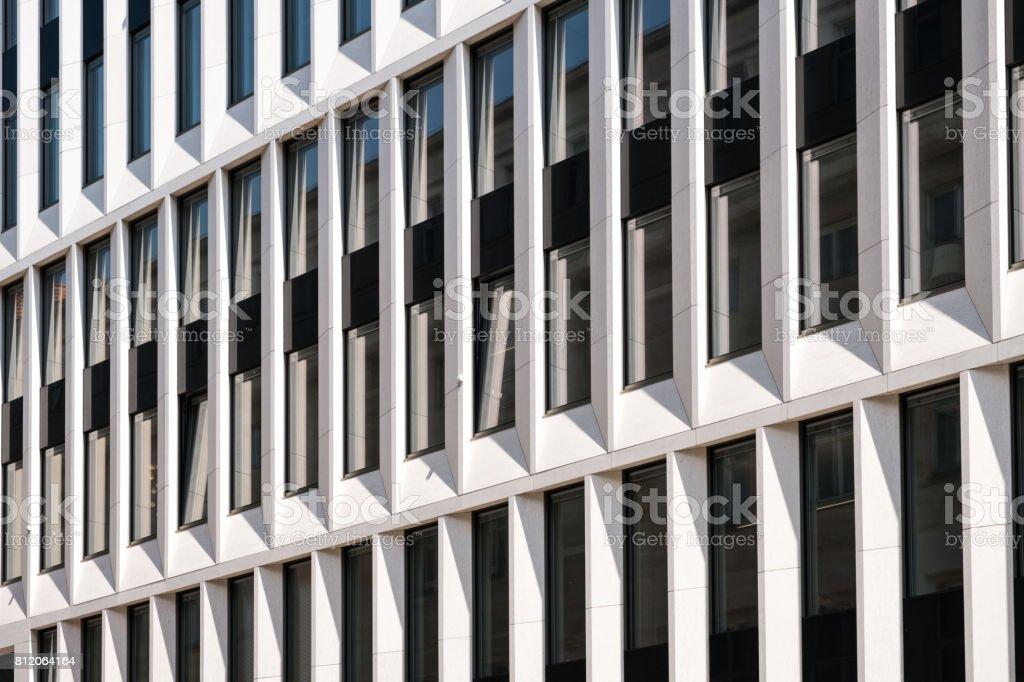 Modern architecture office building facade , abstract pattern stock photo