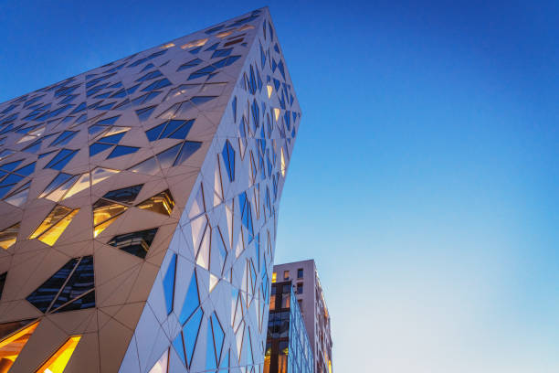 Modern Architecture Office Buildings Oslo Norway stock photo