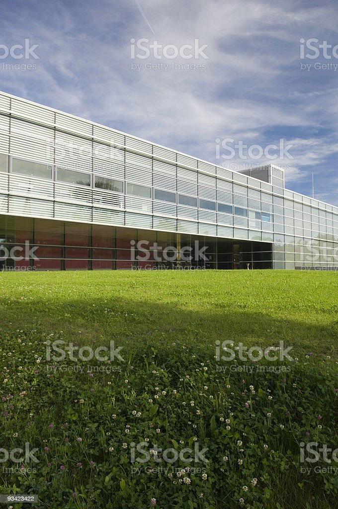 Modern Architecture on green Meadow II royalty-free stock photo