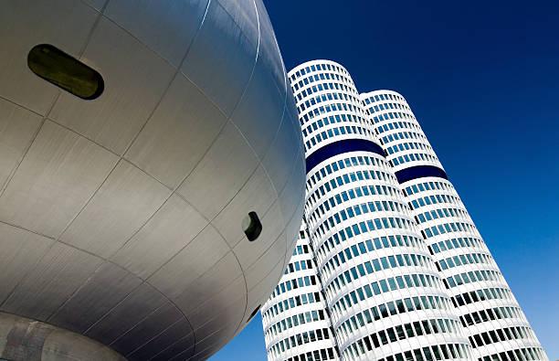 moderne architektur - arbeit in münchen stock-fotos und bilder