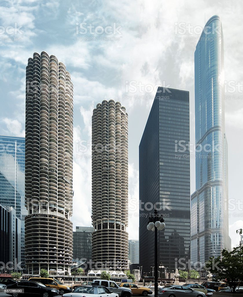 modern architecture skyscrapers. Simple Skyscrapers Modern Architecture Skyscrapers In Downtown Chicago USA Royaltyfree  Stock Photo In Architecture
