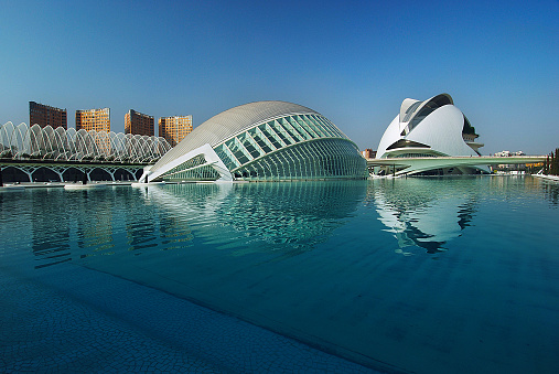 Modern architecture: the City of Arts and Sciences in Valencia, Spain