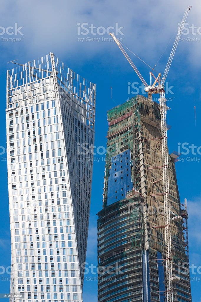 Modern Architecture Under Construction In Dubai Stock Photo More