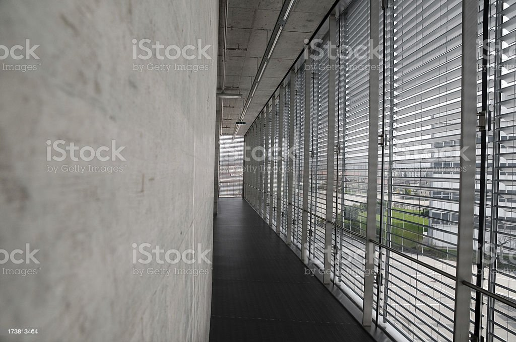 modern architecture with glass and concrete royalty-free stock photo