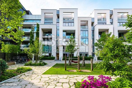 istock Modern Architecture with playground 474649154
