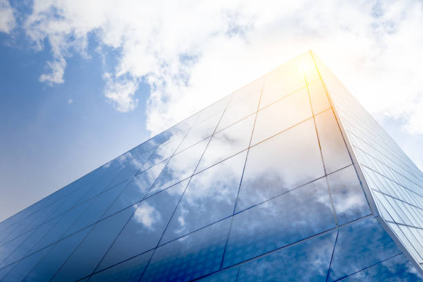 modern architecture with sun reflections - generic location stock pictures, royalty-free photos & images