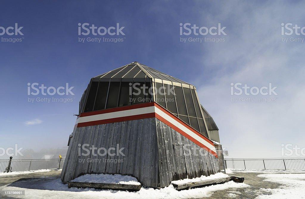 modern architecture, zugspitze mountain royalty-free stock photo