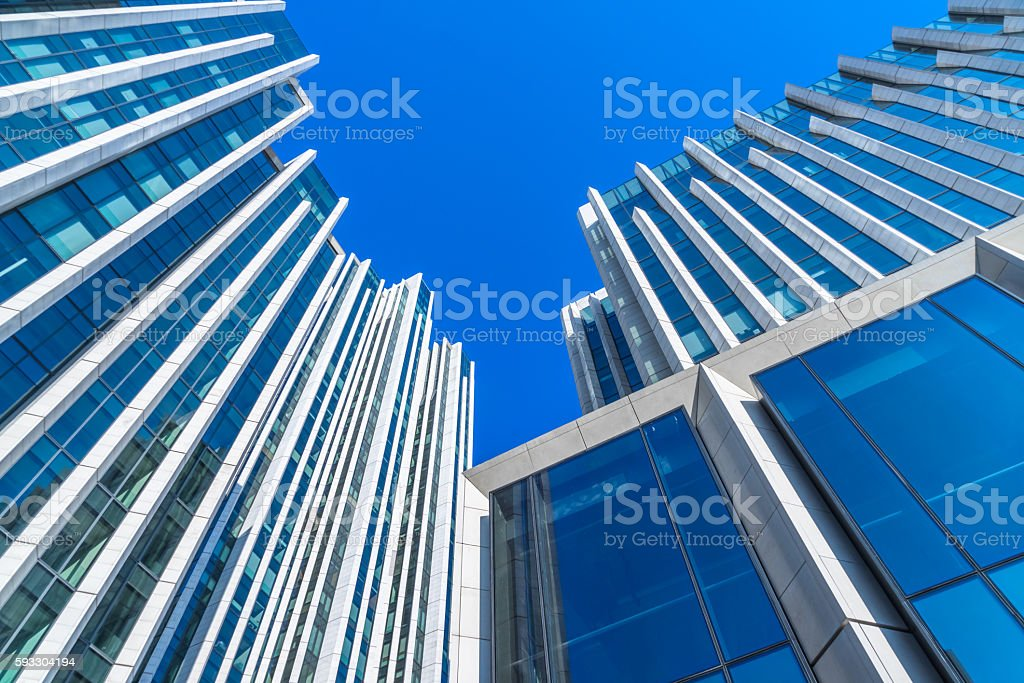 modern architecture,copy space stock photo