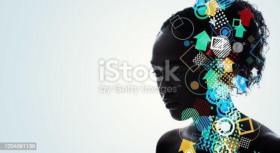 istock Modern art concept. AI (Artificial Intelligence) concept. 1204561139