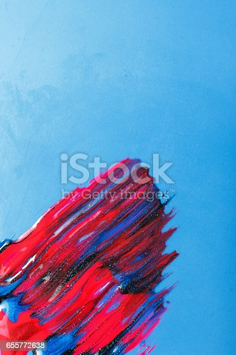 istock Modern art, creative painting, sparkle nail polish 655772638