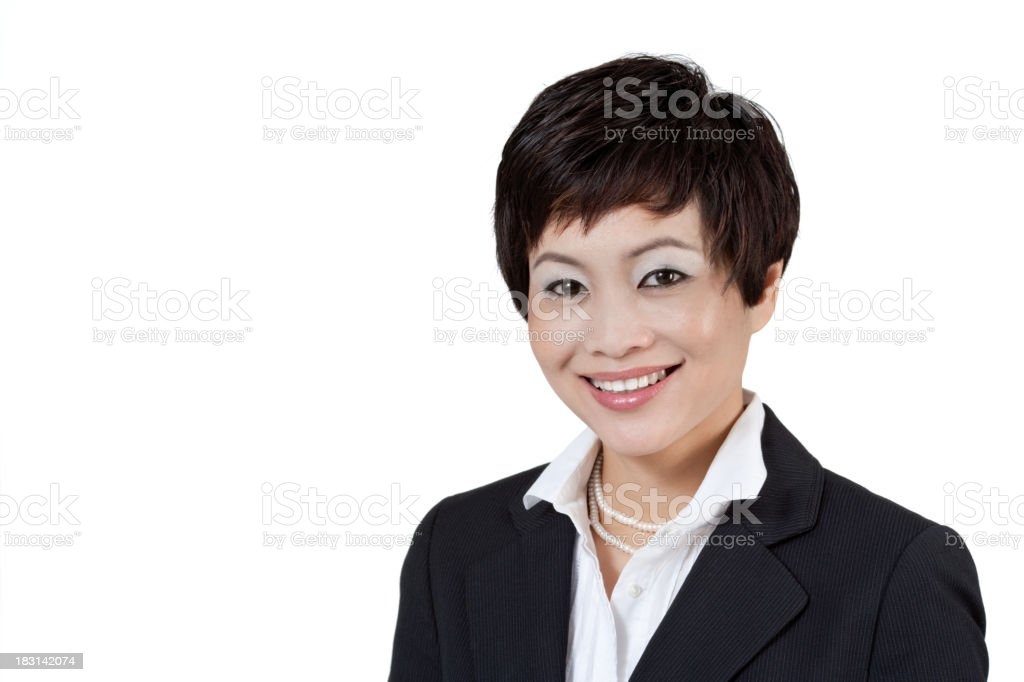 Modern Asian Businesswoman royalty-free stock photo