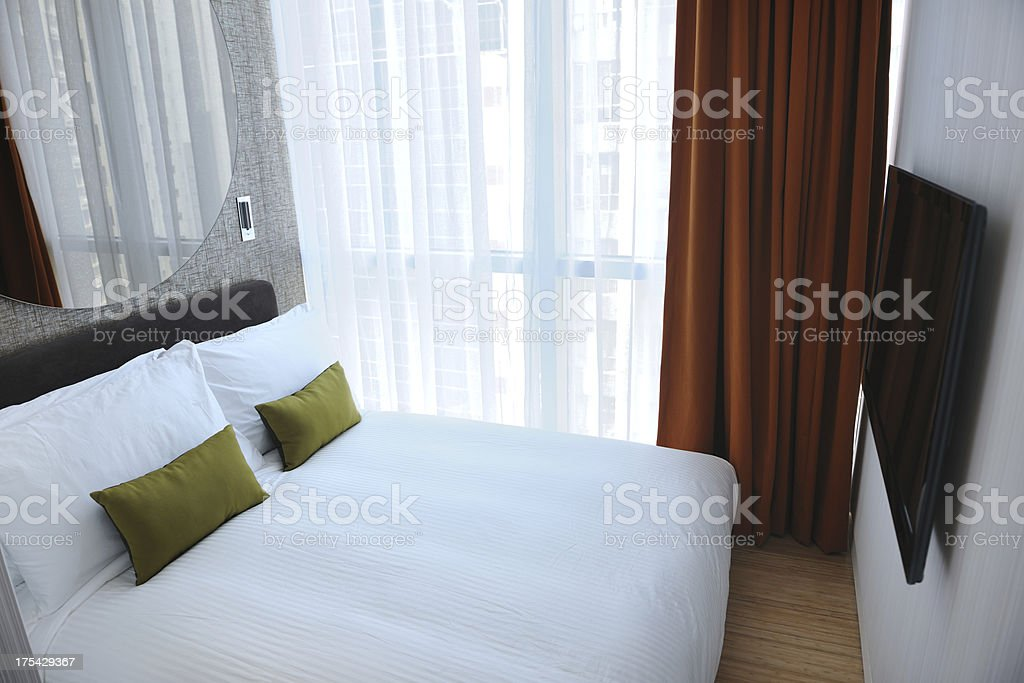 Modern Asian Condo Room with City View (XXXL) royalty-free stock photo