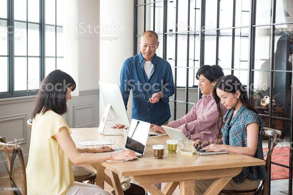Modern Asian office workers圖像檔