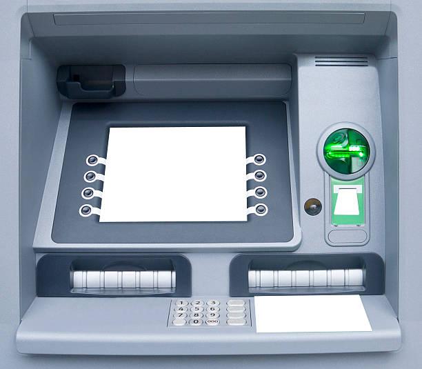 Modern ATM Machine stock photo