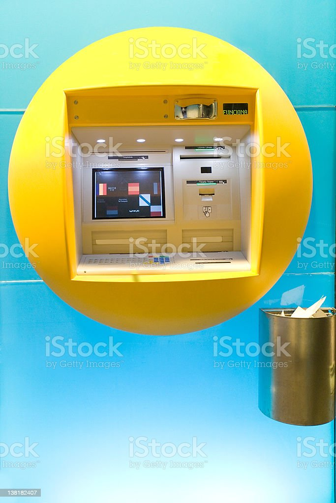Modern ATM royalty-free stock photo