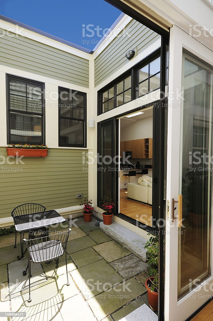 Modern atrium in open plan townhouse royalty-free stock photo
