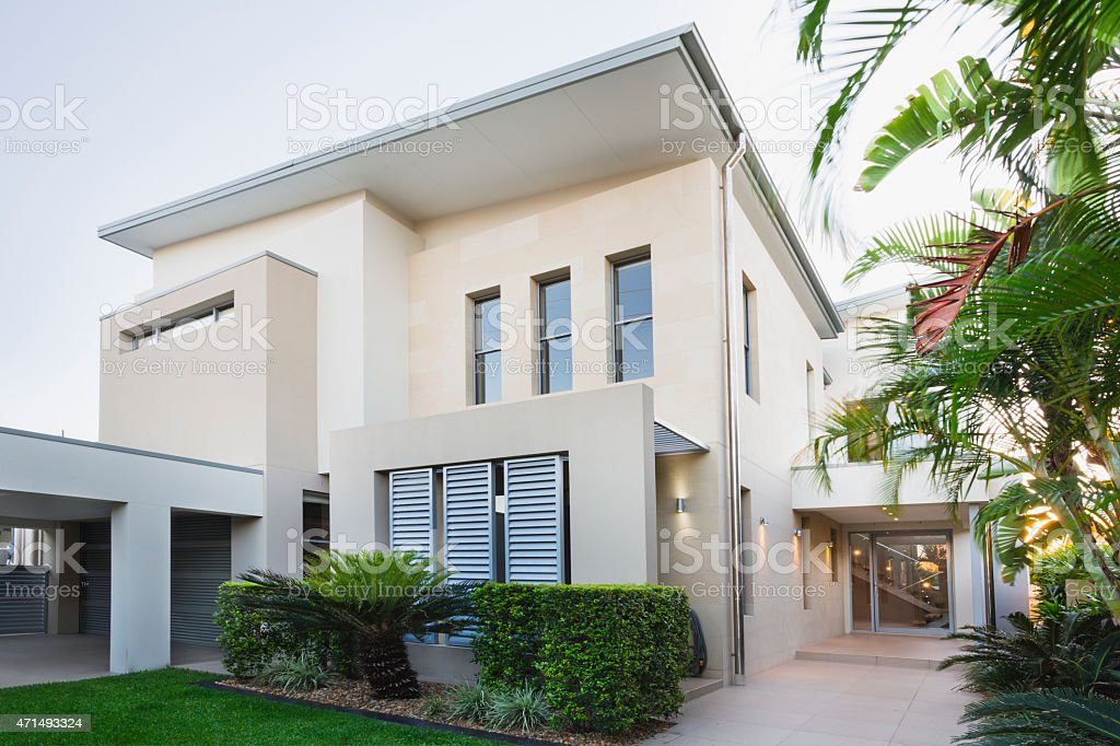 Modern Australian Home stock photo