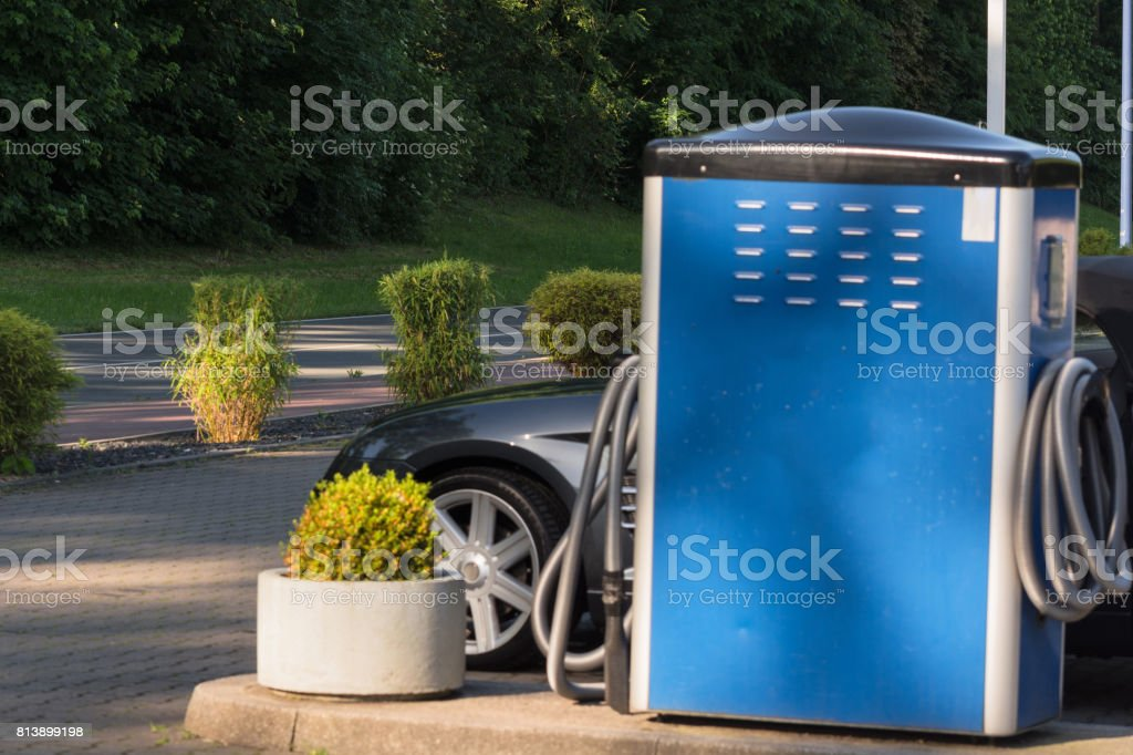 Modern auto-cleaning self-service stock photo