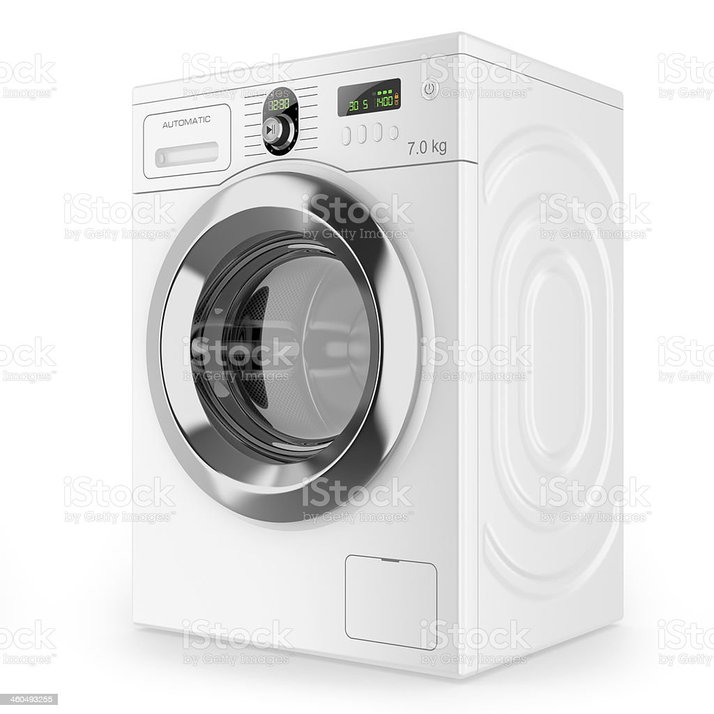 Modern automatic washing machine stock photo