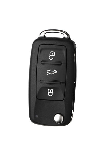 Modern automobile key Modern automobile Key and Remote Isolated on a White Background. car key stock pictures, royalty-free photos & images