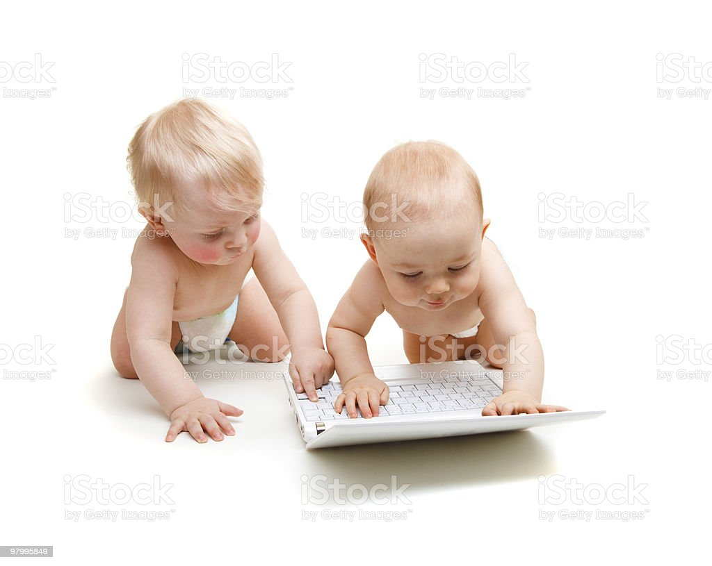 Modern babies royalty-free stock photo