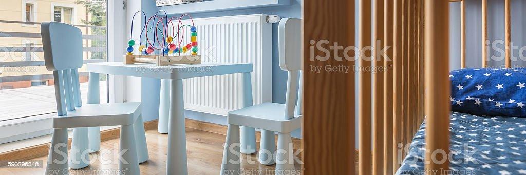 Modern baby room royaltyfri bildbanksbilder