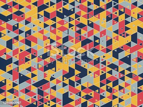 1197513976istockphoto Modern background with cool triangular shapes pattern. 3d rendering 1214899997