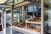 Odessa, Ukraine - June 21, 2015: Modern bakery with assortment of bread, cakes and buns. Odessa.