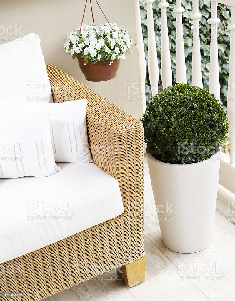 modern balcony royalty-free stock photo