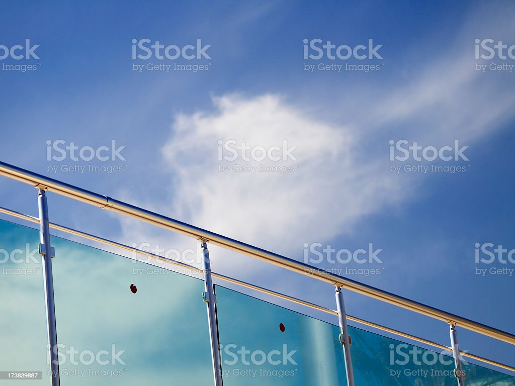 Modern balustrade stock photo
