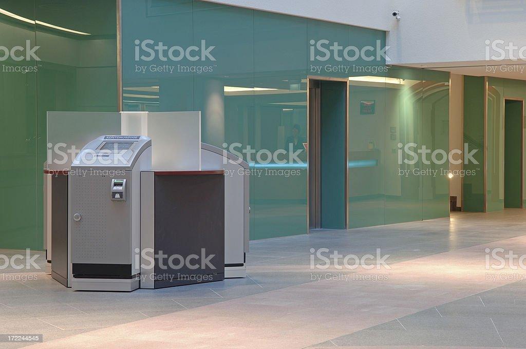 modern bank interior stock photo