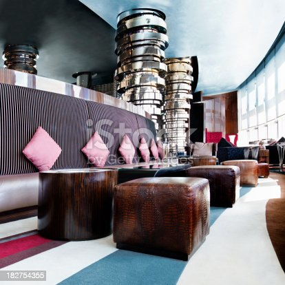 View of luxury bar lounge
