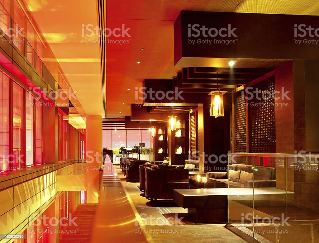 modern bar lounge stock photo