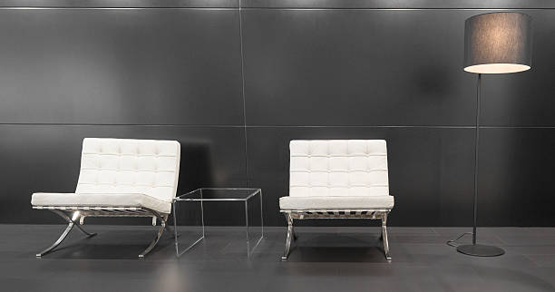 Modern Barcelona design chairs and lamp - Photo