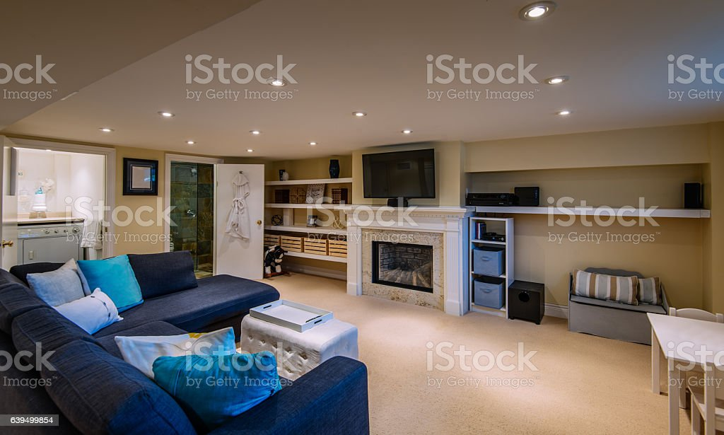 Modern Basement interior - foto de acervo
