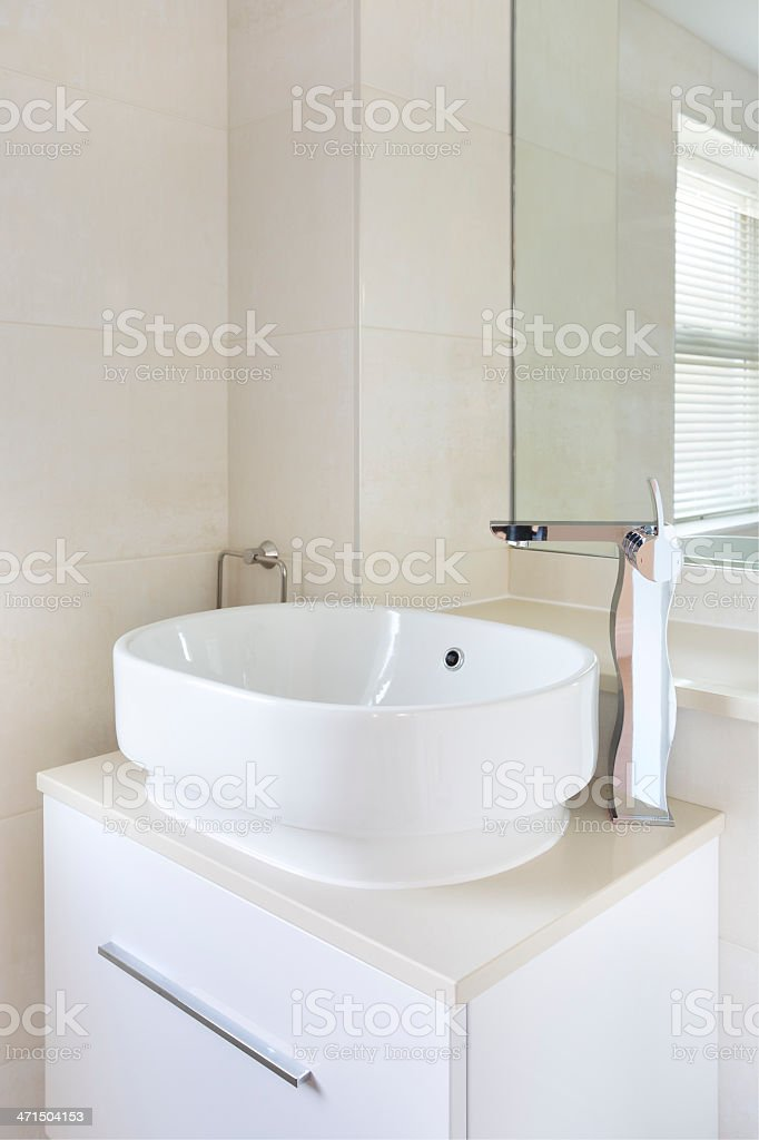 modern basin and faucet royalty-free stock photo
