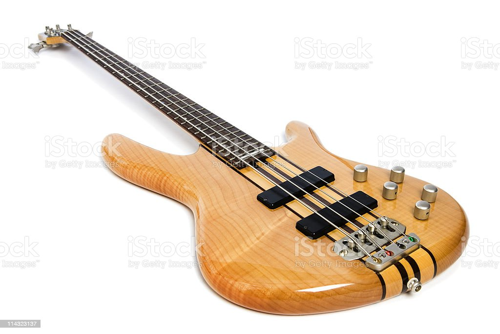 Modern bass guitar stock photo