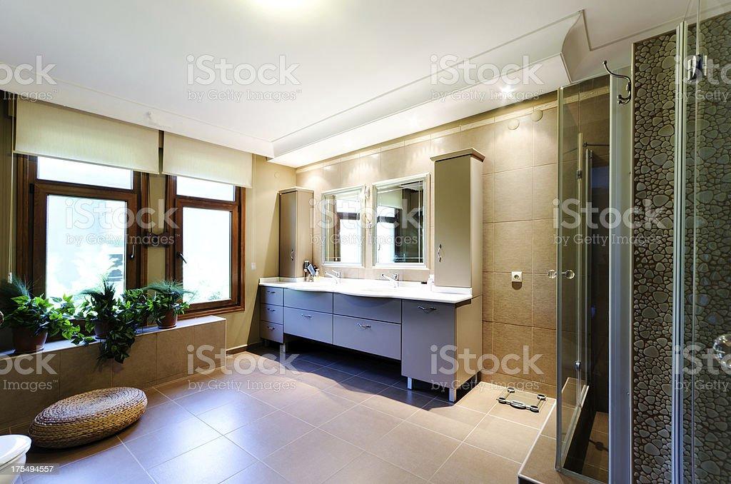 modern bathrom stock photo